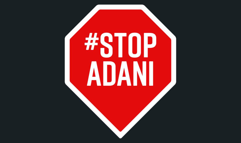 StopAdani-Logo-Placard-Red-on-Charcoal
